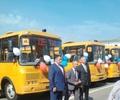 Два новеньких автобуса для подвоза детей!
