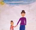 Дети рисуют любимых мам!