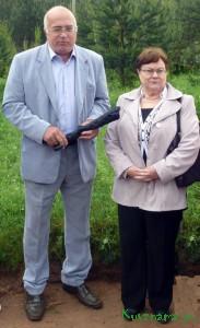 Глава Пеновского района и генеральный директор НП ВАПП Г. А. Титова.