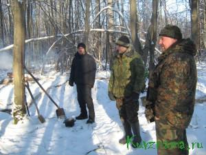 Начало разведки в смоленском лесу.