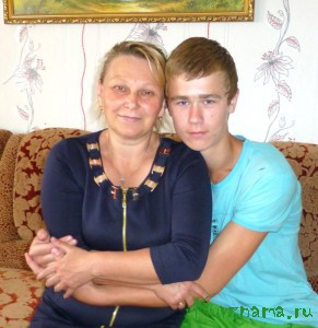 Аленка Абриковна Шевелева и приемный сын Трофим