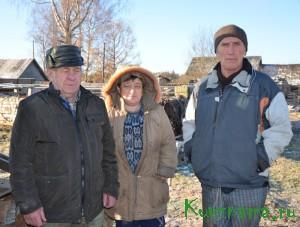 Кувшиновские фермеры: Г. И. Гнездов, О. В. Лозован и  С. Х. Лозован.