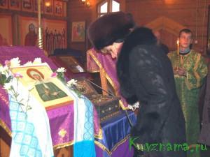 13 декабря в Кувшиново привозили частицу мощей блаженной Матроны Московской, русской подвижницы XX века