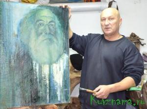 Руководитель поискового отряда «Земляки» Виктор Макаров с юности увлекался живописью