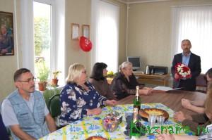 В редакции газеты «Знамя»   прошло торжество по поводу 85-летнего юбилея газеты