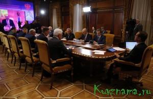 В совещании под руководством Председателя Правительства Российской Федерации Дмитрия Медведева