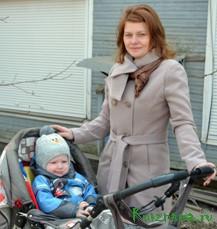 Ольга Лисицына (на фото), молодая мама
