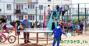 Открытие детской площадки на Пионерском  бульваре