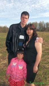 Супруги Журавлевы с дочкой Лизонькой
