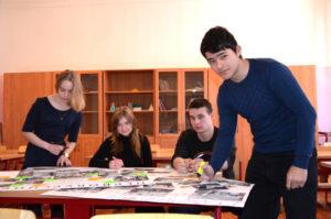 Ирина Тихомирова, Алла Коломыцева, Дмитрий Цветков  и Георгий Арутюнов (слева направо)