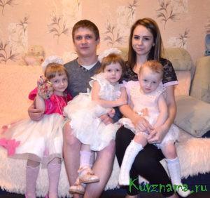 Молодая многодетная семья Сергея и Полины Бойко
