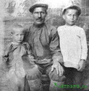 Воробьев М.Н. с сыновьями до войны