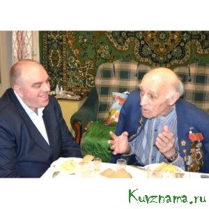 Игорь Аввакумов и ветеран ВОВ Константин Сергеевич Федулов