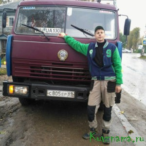 Александр Перженцев, водитель КамАЗа МУП «Дороги»