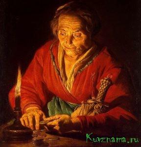 Матиас Стомер. Старуха со свечой. 1640