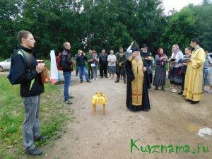 На въезде в Кувшиново установлен  новый поклонный крест