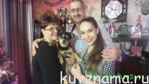 Дарья с родителями