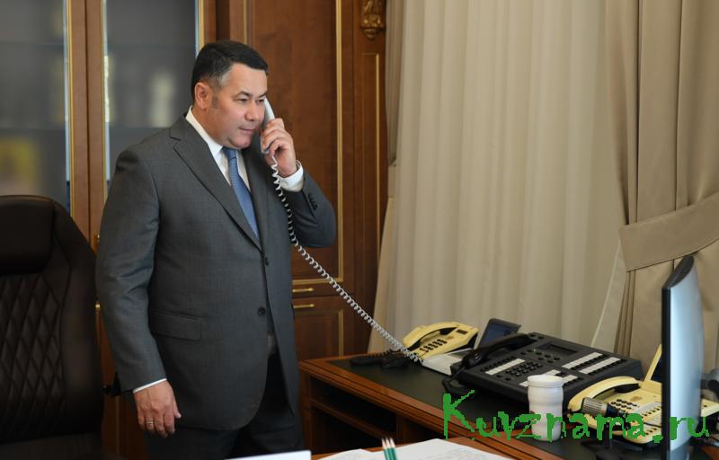 Губернатор Игорь Руденя поблагодарил за вклад в Победу труженицу тыла Анну Фёдоровну Седову, отмечающую столетний юбилей